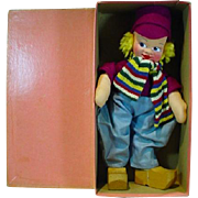 Mint in the Original Box, Cloth Mollye Dutch Boy Doll, 1940's