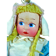 Charming Cloth Mollye Dutch Girl Doll, MIB, 1940's