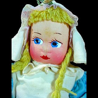Charming Cloth Mollye Dutch Girl Doll, MIB, 1940's