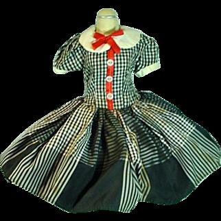 VIntage Madame Alexander Cissy Size Day Dress, 1950's
