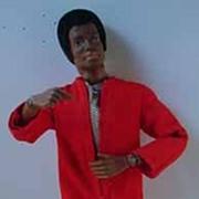 Original Hasbro African American GI Joe Adventure Team Action Figure, 1970.