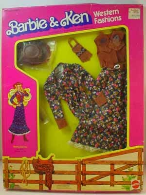 Never Removed From Box Barbie Western Fashion, Westward Ho, Mattel, 1981.
