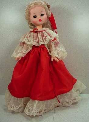 Adorable 1960's Furga Vinyl Doll, 16 inch, all original and Mint!