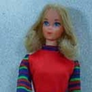 Mattel 1973 Quick Curl Barbie in Get-Ups' n Go United Airline Hostess Outfit!