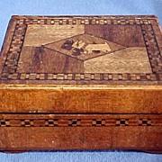 Tunbridge Ware Box with Scottie and Westie Dogs