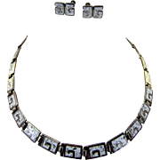 Margot de Taxco Sterling Necklace and Earrings