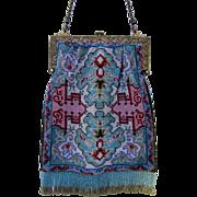 Stunning Rug or Carpet Design Microbeaded Purse