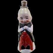 German Figural Crown Top Perfume Bottle