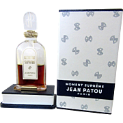 Jean Patou Vintage Moment Supreme Perfume Bottle and Box
