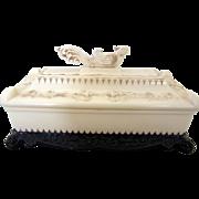 Vintage Lucite Figural Dresser Box - Red Tag Sale Item