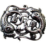 Vintage Cini Sterling Silver Figural Pin - Pisces