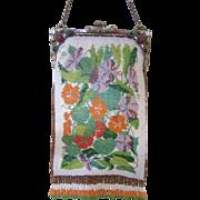 Stunning Vintage Beaded Purse - Jeweled Frame