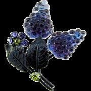 Vintage Austrian Glass Floral Pin