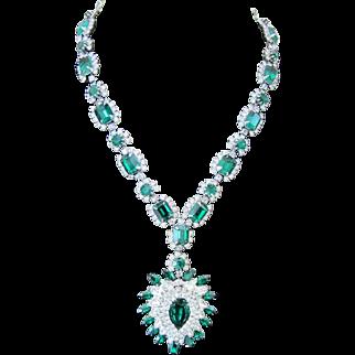 Kramer of N.Y. Rhinestone Necklace