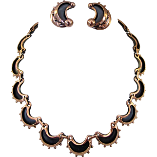 Renoir Signed Necklace and Earrings