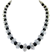 Beautiful Vintage Crystal Bead Necklace