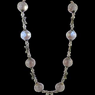 Vintage Crystal Pools of Light Necklace