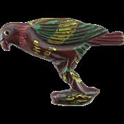 Vintage Resin Washed Bakelite Figural Bird Pin