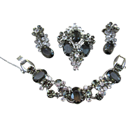 Juliana Pin, Earrings and Rhinestone Bracelet - Book Set