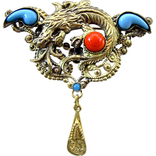 Vintage Czech Neiger Pin - Figural