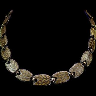 Vintage Margot de Taxco Sterling and Enamel Necklace