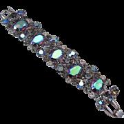Juliana Rhinestone Link Bracelet, Mirrored Watermelon Stones - Book Piece