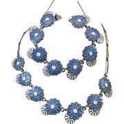 Vintage Daisy Chain Necklace and Bracelet - Margot de Taxco