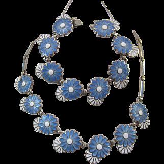 Vintage Daisy Chain Necklace and Bracelet - Margot de Taxco