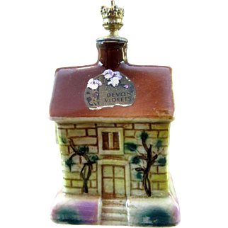 Vintage Devon Violets Crown Top Perfume Bottle