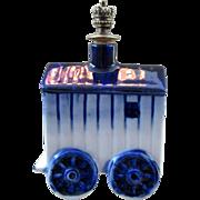 Vintage Bathing Machine Figural Crown Top Perfume Bottle - Book Piece - Boldoot