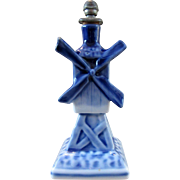 Delft Style Figural Windmill Crown Top - Boldoot Cologne - Book Piece