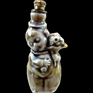 Adorable Figural Vintage German Crown Top Perfume Bottle