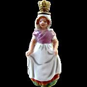 Vintage Figural Dutch Girl Perfume Bottle - Book Piece