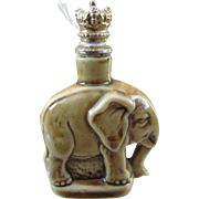 Schafer and Vater Figural Elephant Crown Top Perfume Bottle - Book Piece
