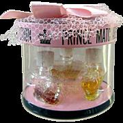Vintage Prince Matchabelli Boxed Set of Miniature Perfume Bottles