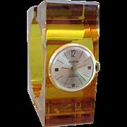 Fabulous Vintage Vendome Bakelite 17 Jewel Swiss Bracelet Watch