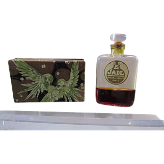 Vintage Roger and Gallet Le Jade Perfume Bottle and Box - Tied and Sealed