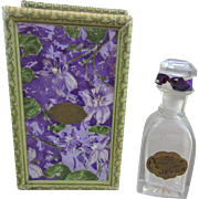 Eastman`s Violette De Lorme Vintage Perfume Bottle and Box - Jergens Co.