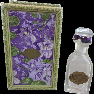 Eastman`s Violette De Lorme Vintage Perfume Bottle and Box - Jergens Co.