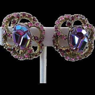 Schiaparelli Iridescent Lava Stone Earrings