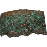 "Copper Mineral Belt Buckle Rectangular 3-1/2"" x 2-1/8"""