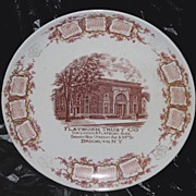 Flatbush Trust Company Calendar Plate 1911 Brooklyn, NY