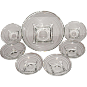 Hazel Atlas Colony Crystal Clear Bowl Set