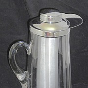 Gilley Chill-It Cut Crystal Pitcher with Ice Reservoir