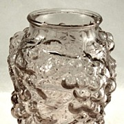Antique Glass Grape Clusters Vase Pickle Jar   Early 1900's