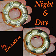 Kramer Night and Day Convertible Rhinestone Brooch