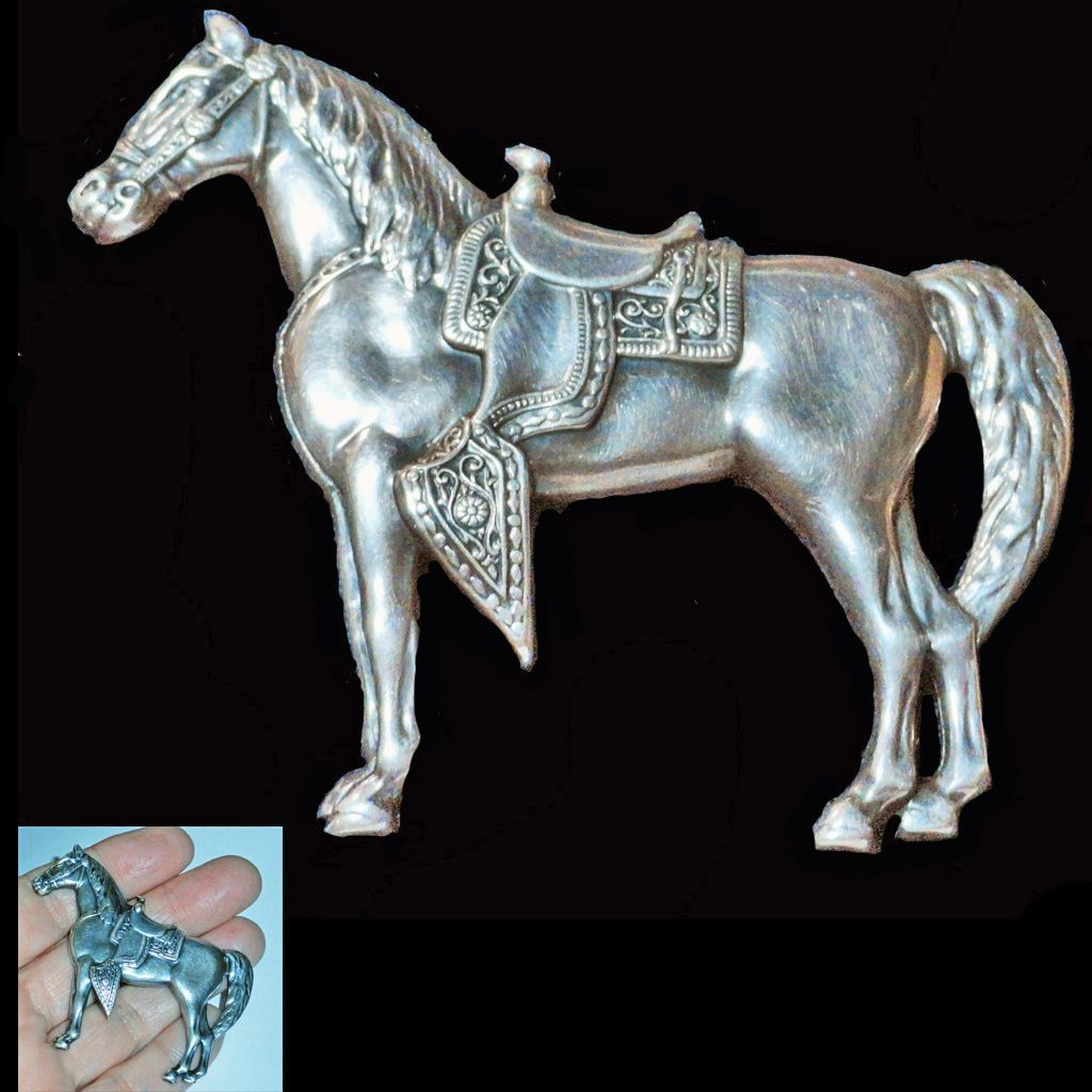 Sterling Silver Show Horse Brooch