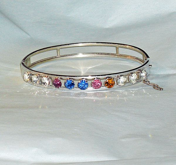 Van Dell Sterling Rhinestone  Bracelet in Orig Box