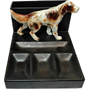 Setter or Springer Spaniel Dog Desk Tray