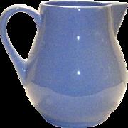 Vintage Hall Pottery Pitcher  1247 Cadet Blue
